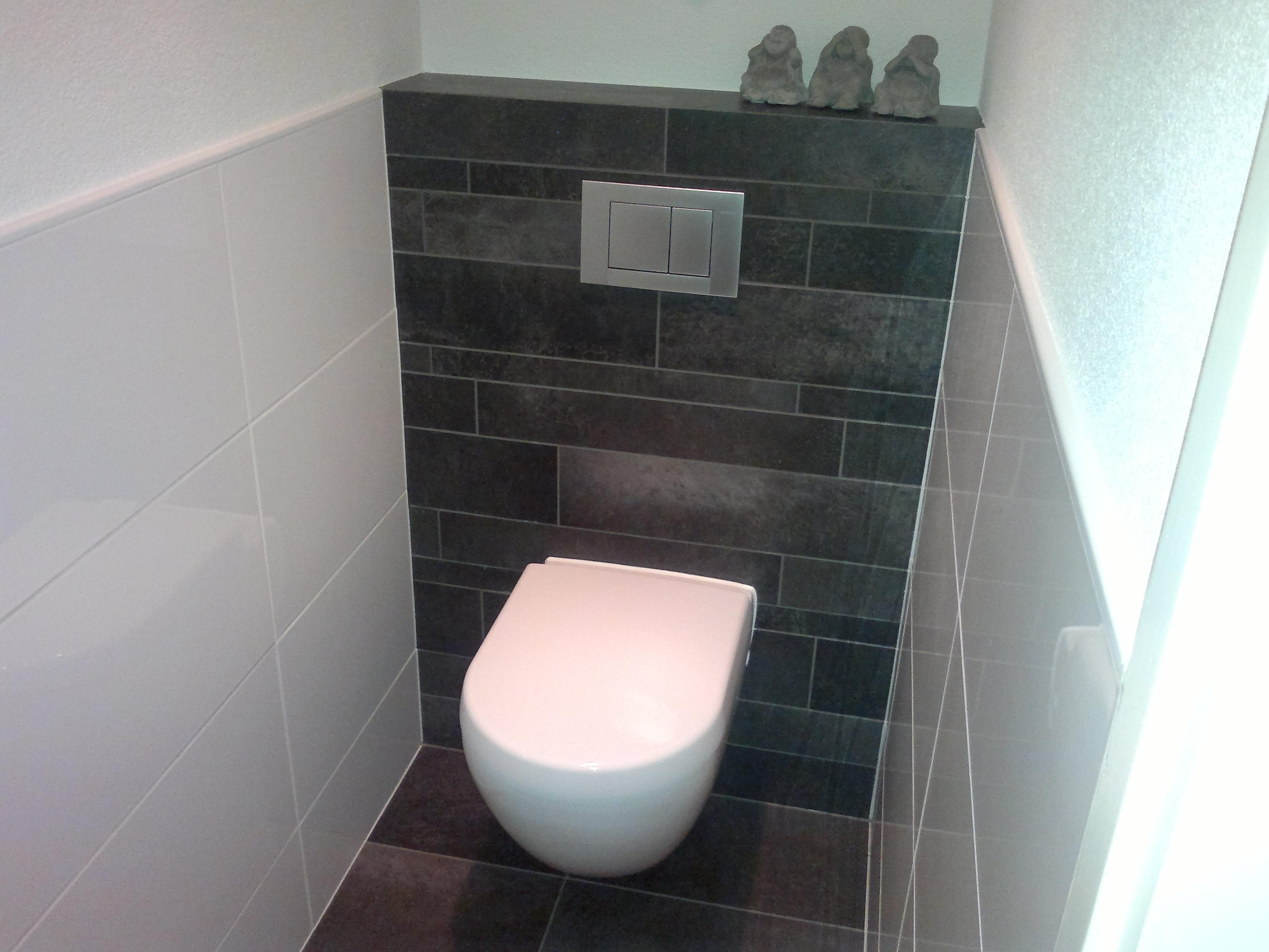 Wc verbouwen voorbeelden naambordje voordeur messing - Renovatie wc ...